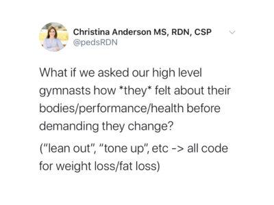 Gymnast Body Image