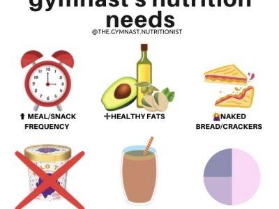 gymnast healthy weight gain