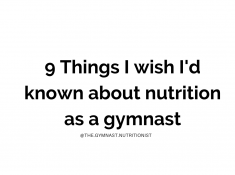 9 things I wish I knew as a gymnast