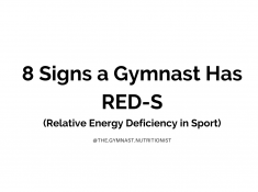 Signs a Gymnast has RED-S